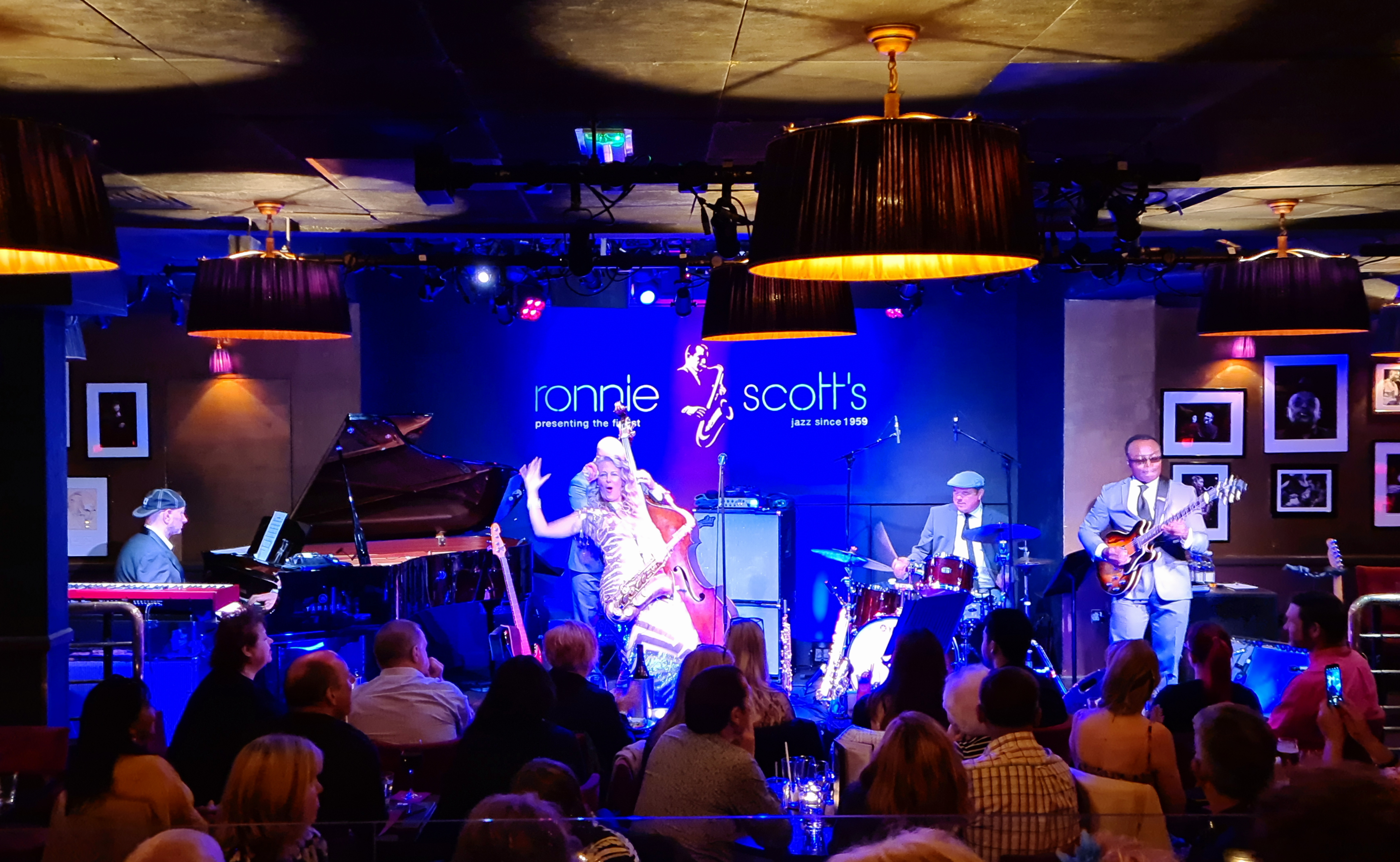On stage at Ronnie Scott's