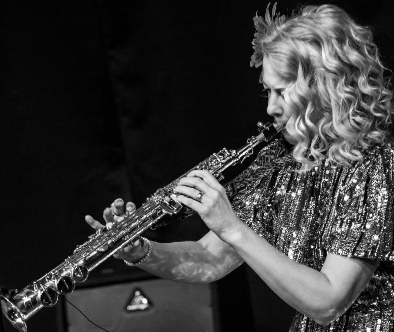 Kim Cypher 'live' at Tetbury Goods Shed - Photo By Ron Milsom